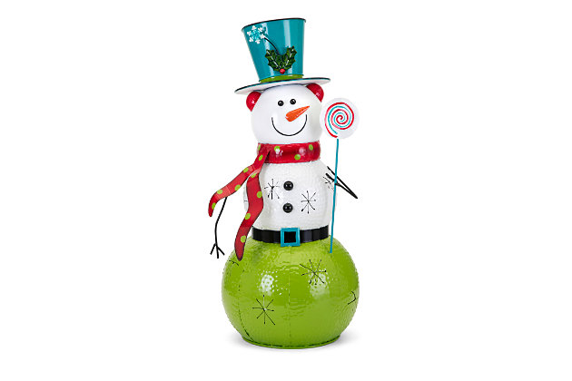 Holiday Whimsy Christmas Large Snowman Lantern, , large