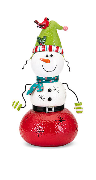 Holiday Whimsy Christmas Small Snowman Lantern, , large