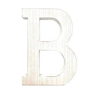 """Large 15.75 in. """"B"""" White Wash Decorative Monogram, , large"""