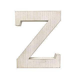 """Large 15.75 in. """"Z"""" White Wash Decorative Monogram, , large"""