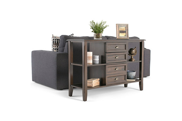 Simpli Home Burlington Console Sofa Table, , large