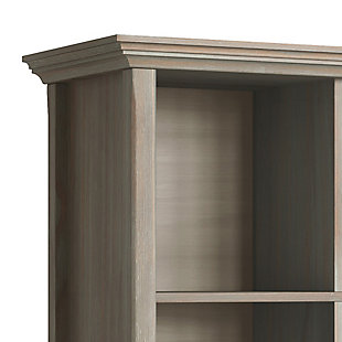 Simpli Home Amherst 8 Cube Storage Sofa Table, Distressed Gray, large