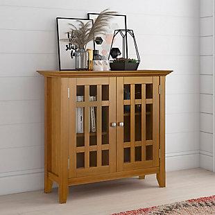 Simpli Home Bedford Low Storage Media Cabinet, , rollover