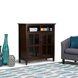 Simpli Home Warm Shaker Medium Storage Media Cabinet, , rollover