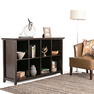 Simpli Home Amherst 8 Cube Bookcase Storage Sofa Table, , rollover
