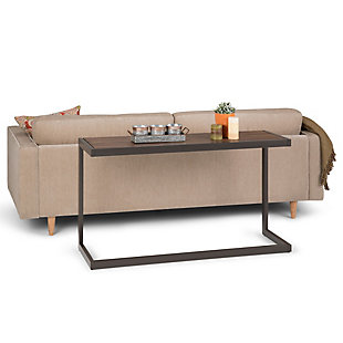 Simpli Home Erina Console Sofa Table, Rustic Natural Aged Brown, rollover