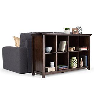 Simpli Home Acadian 8 Cube Storage Sofa Table, , rollover