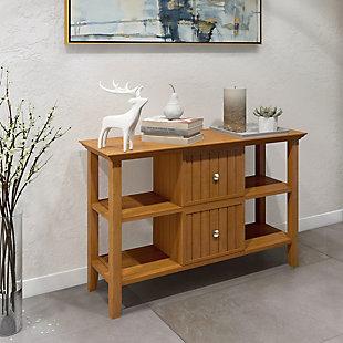 Simpli Home Acadian Console Sofa Table, Light Golden Brown, rollover