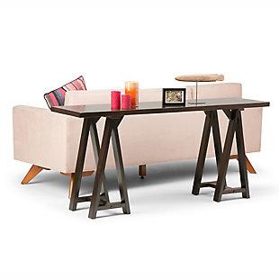 Simpli Home Sawhorse Wide Console Sofa Table, , rollover