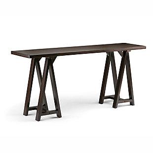 Simpli Home Sawhorse Wide Console Sofa Table, , large