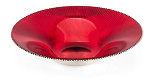 Holiday Christmas Rufina Red Glass Bowl, , rollover