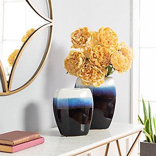 Surya Navy Decorative Vase (Set of 2), , rollover
