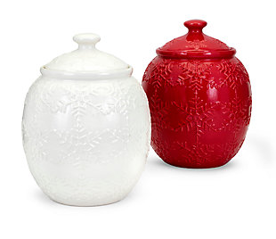 Holiday Homestead Christmas Snowflake Cookie Jars, , large