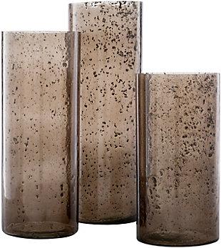 Surya Mist Glass Hurricane Candle Holder (Set of 3), , large