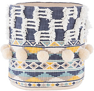 Surya Mansa Navy Decorative Basket, , large