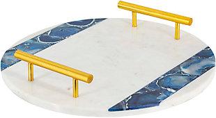 Surya Cerulean Marble Decorative Tray, , rollover