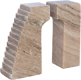 Surya Gates of Troy Stone Gray Book End (Set of 2), , large