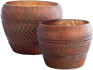 Surya Mandawa Glass Copper Hurricane Vase (Set of 2), , large