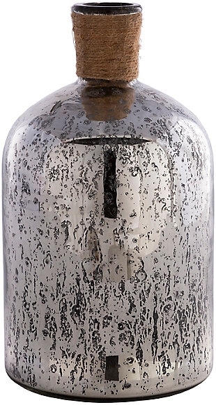 Surya Reflection Black Jute Glass Vase, , rollover