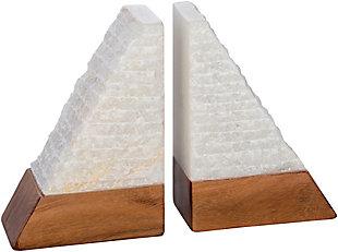 Surya Tikal Stone White Book End (Set of 2), , large