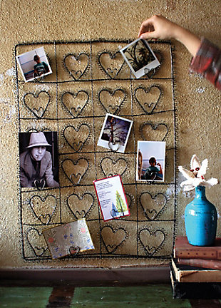 Holiday Wire Twenty Four Heart Photo or Card Holder, , large