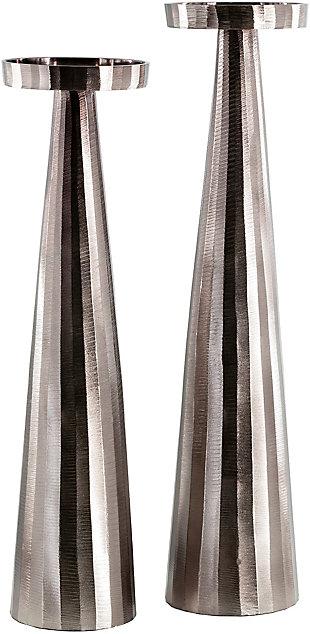 Surya Akbar Silver Candle Holder (Set of 2), , large