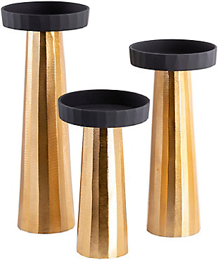 Surya Taimur Gold Candle Holder (Set of 3), , rollover