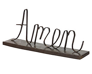 "Holiday Recycled Metal ""Amen"" on a Stand, , large"