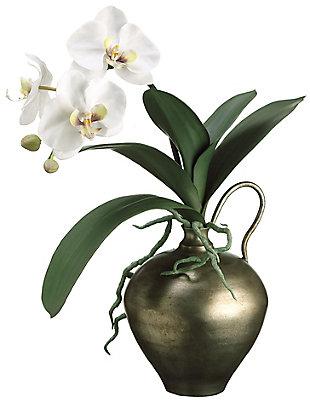 "17"" White Phalaenopsis in Vase, , rollover"