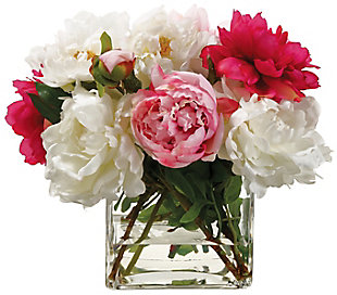 """14"""" Peony Mixed In Glass Vase, , large"""