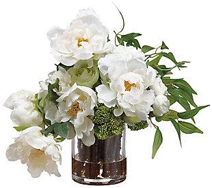 "14"" Peony and Ranunculus Arrangement, , large"