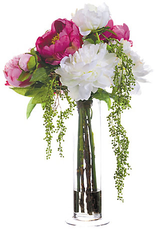 """21"""" Peony and Berry Floral Arrangement, , rollover"""