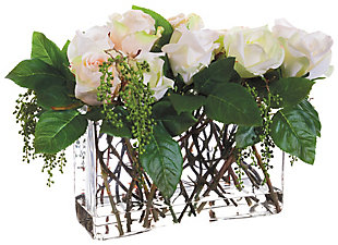 """12"""" Rose and Berry Floral Arrangement, , rollover"""