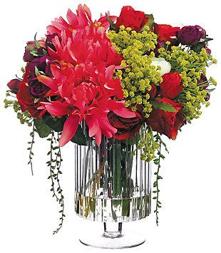 "16"" Dahlia and Rose Floral Arrangement, , rollover"