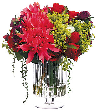 "16"" Dahlia and Rose Floral Arrangement, , large"