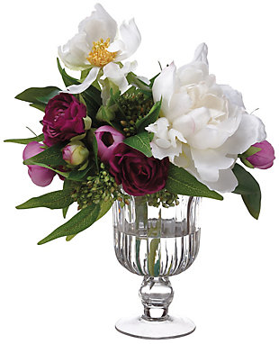 """10"""" Ranunculus and Peony Floral Arrangement, , rollover"""