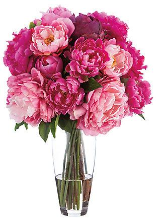 "22"" Peony Floral Arrangement, , rollover"