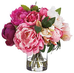 "13"" Peony Floral Arrangement, , rollover"