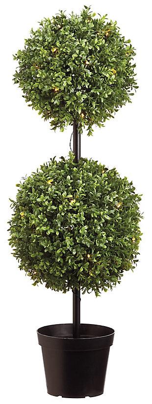 """37"""" UV Boxwood Ball-Shape Topiary, , large"""