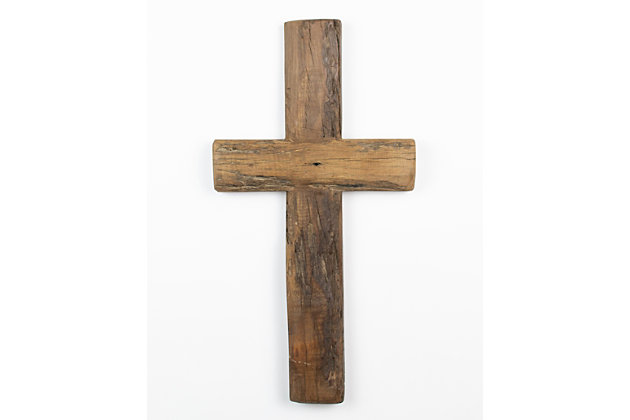 Holiday Recycled Wooden Cross, , large