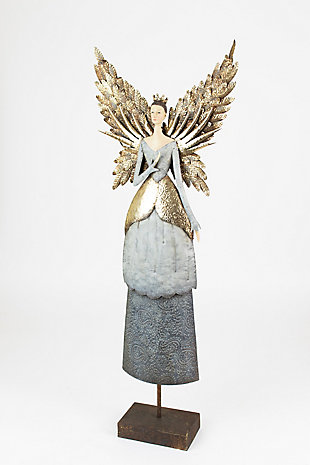 Holiday Painted Metal Angel, , large
