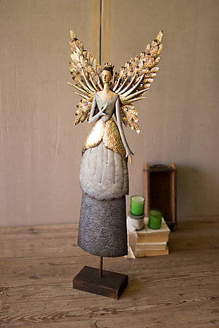 Holiday Painted Metal Angel, , rollover