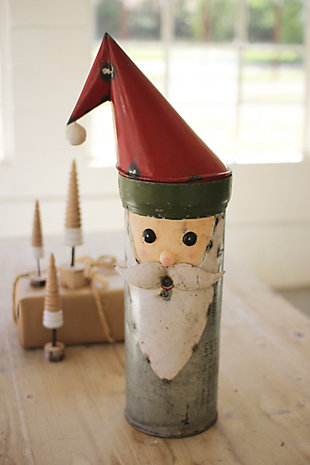 Holiday Recycled Military Canister Santa, , rollover