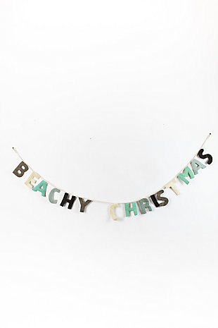 Holiday Felt Beachy Christmas Garland, , large