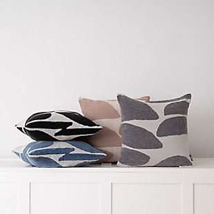 freshmint Stonelance Abstract Pillow, Smoke Gray, rollover
