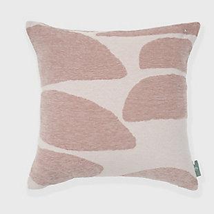 freshmint Stonelance Abstract Pillow, Smoke Gray, large