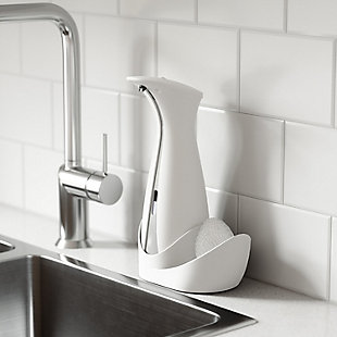 UMBRA 8.5 oz. Auto Soap Dispenser in White Gray, White, rollover