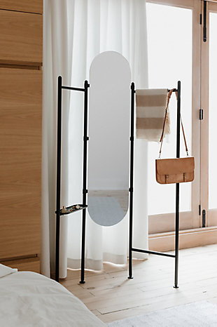 UMBRA Black Floor Mirror, , rollover