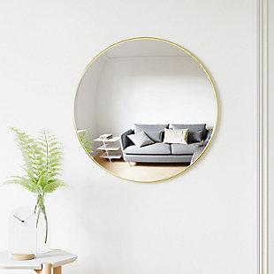 UMBRA Brass Circular Mirror, , rollover