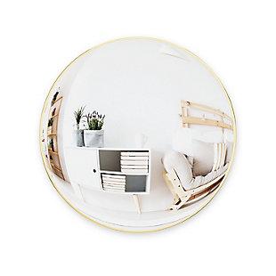 UMBRA Brass Circular Mirror, , large